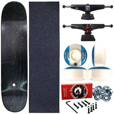 Skate Completo Profissional Maple Liso 8.0 (shape sem estampa)