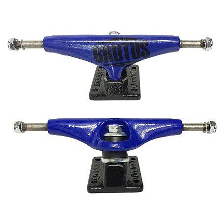 Truck Brutus 139mm Semi Profissional Azul Escuro (Par + Grátis 8 parafusos)