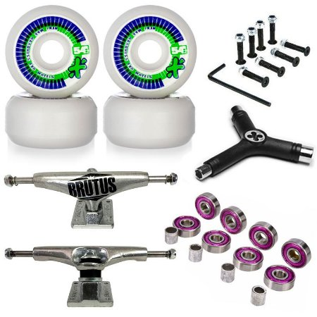 Roda Next Max 54mm + Truck Brutus 139mm + Chave + Abec 7 + Parafusos