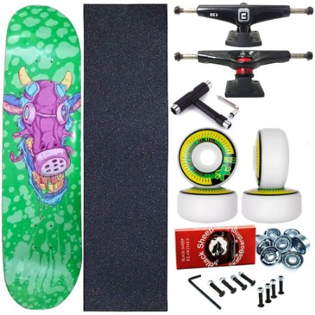 Skate Completo Profissional Shape Maple Milk Toxic 8.0 + Chave T