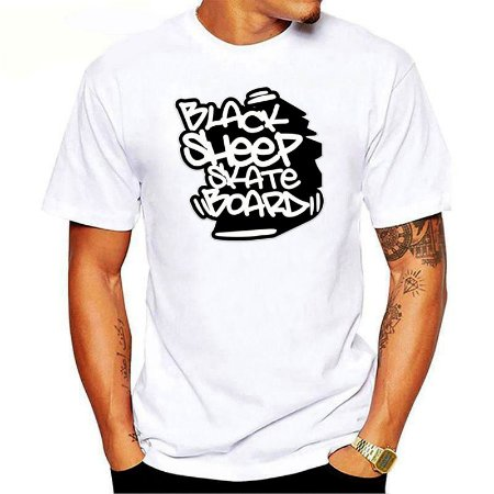 Camiseta Black Sheep Skate Urban Branca