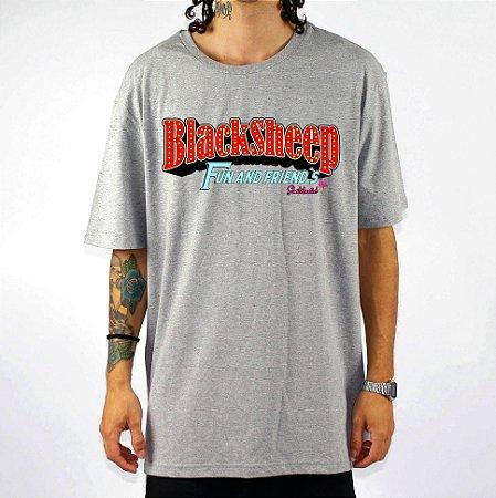 Camiseta Black Sheep Skate Fun Cinza