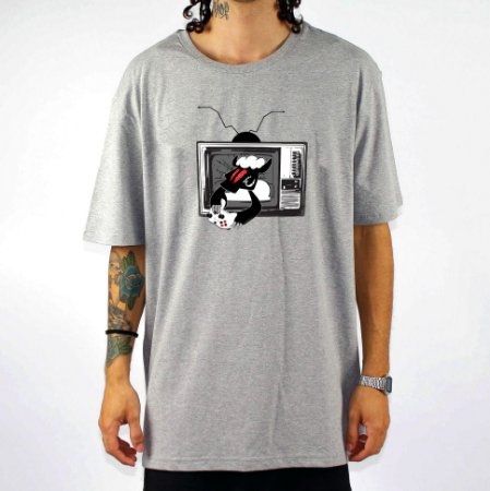 Camiseta Black Sheep Skate Game Cinza