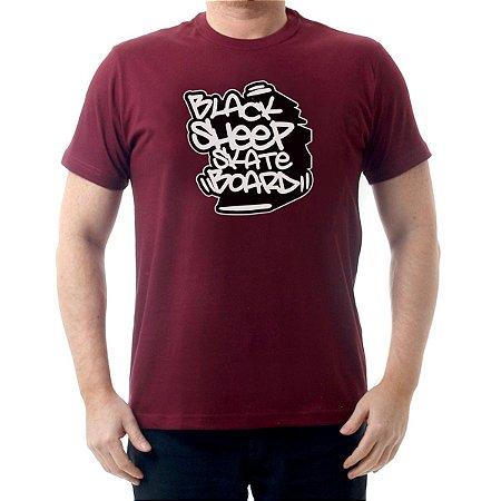 Camiseta Black Sheep Skate Urban Vinho