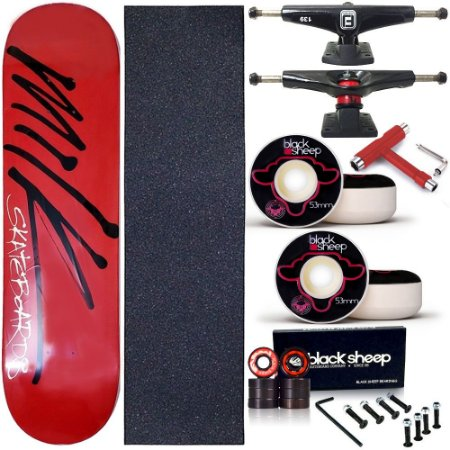 Skate Completo Profissional Shape Maple Milk Red Write 8.0 BS Black + Chave T