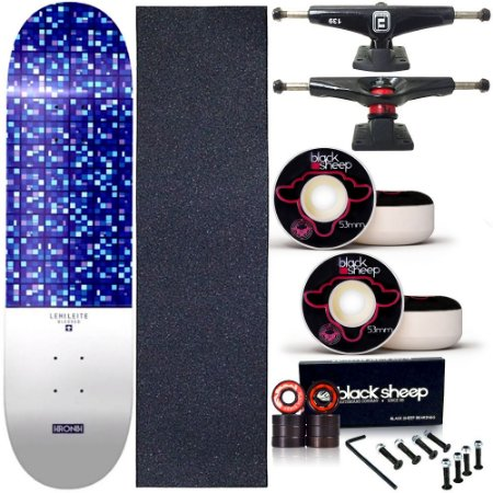 Skate Completo Profissional Shape Maple Kronik 8.0 Blessed BS Black