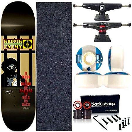 Skate Completo Profissional Shape Maple Kronik 8.0 Enemy Next