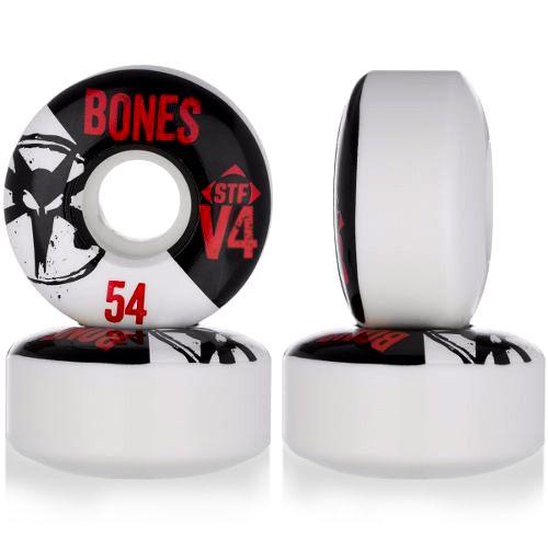 Roda Bones Original V4 STF 54mm Branca 83B ( jogo com 4 rodas )