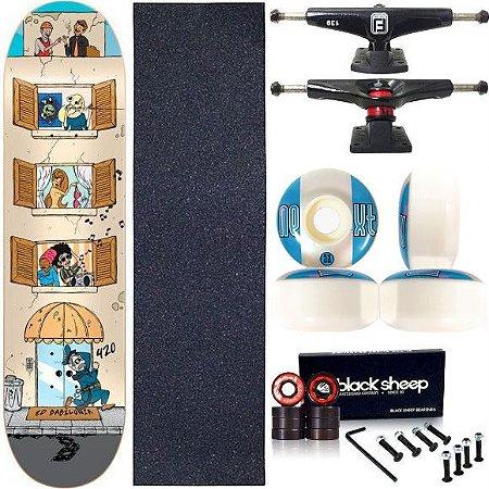 Skate Completo Profissional Maple Cisco Babilônia 8.0 Next