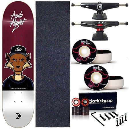 Skate Completo Profissional Maple Cisco Fox Piquet 8.25 BS Black