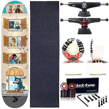 Skate Completo Profissional Maple Cisco Babilônia 8.0 BS Black