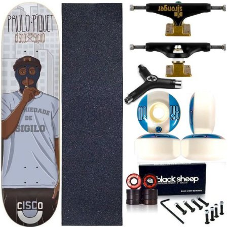 Skate Completo Profissional Maple Cisco Piquet 8.125 Truck Stronger