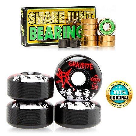 Roda Bones Original STF 54mm Gravette + Rolamentos Shake Junt Triple Og Abec 7 Importado
