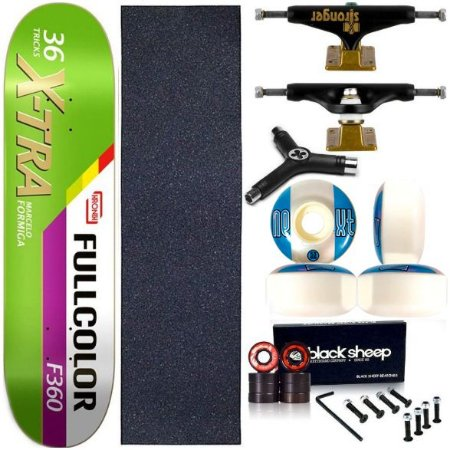 Skate Completo Profissional Shape Maple Kronik X-Tra 8.0 + Truck Stronger + Chave Y