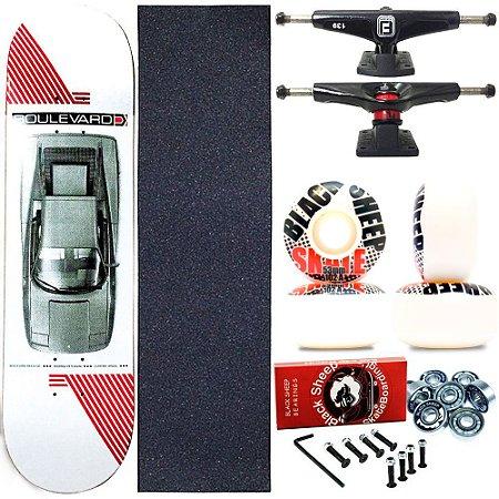Skate Completo Profissional Shape Maple Boulevard 7.9 Danny Roda BS 53mm