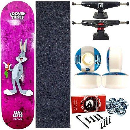 Skate Completo Profissional Shape Maple Kronik 8.0 Looney Tunes Lehi