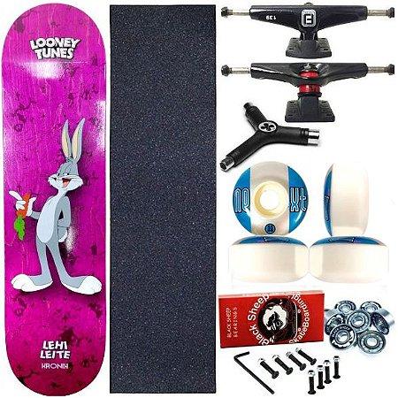 Skate Completo Profissional Shape Maple Kronik 8.0 Lehi + Chave Y