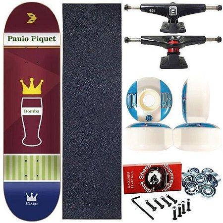 Skate Completo Profissional Maple Bomba Paulo Piquet 8.0 Cisco