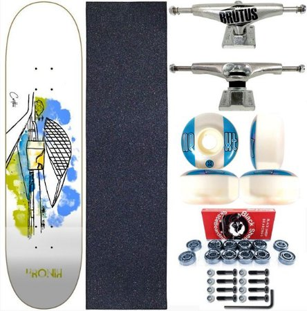 Skate Completo Shape 8.0 Kronik Art Curitiba