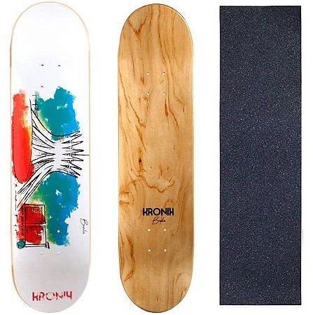 Shape Kronik Skate Marfim 8.0 Art Aquarela (Grátis Lixa)