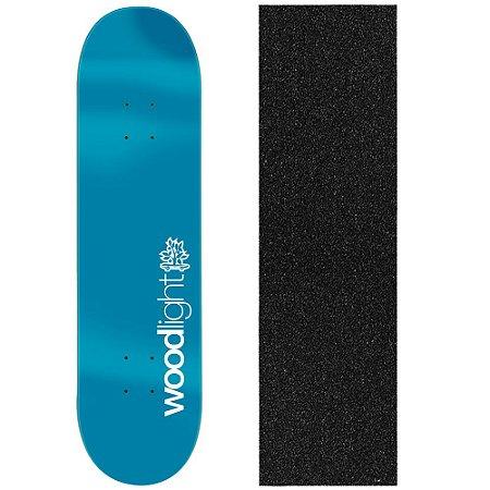 Shape de Skate Profissional Wood Light Basic Blue 8.0 (Lixa de Brinde)