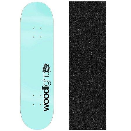 Shape de Skate Profissional Wood Ligth Basic Light Blue 8.0 (Lixa de Brinde)