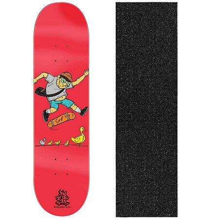 Shape de Skate Profissional Wood Ligth Duck Family 8.0 (Lixa de Brinde)