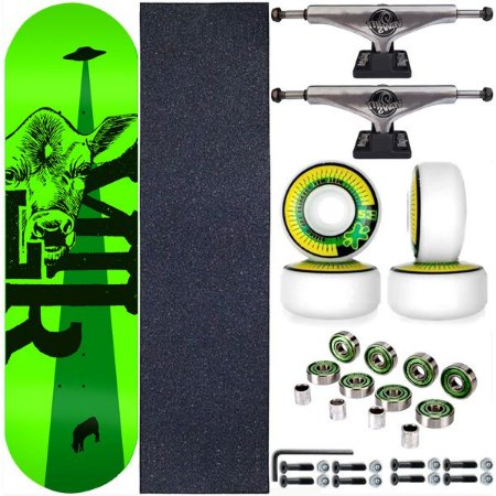 Skate Completo Maple Milk Skate 8.0 Beto Janz Green + Truck ThisWhay Silver