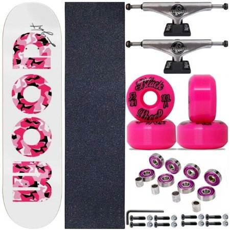 Skate Completo Shape Wood Ligth 8.0 Pink + Truck ThisWhay + Roda BS Importada
