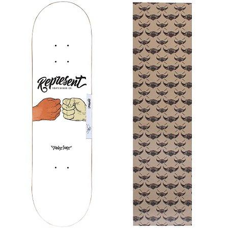 Shape de Maple Represent Skate Pelas Ruas dois 8.0 (Grátis lixa Jessup)