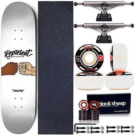 Skate Completo Shape Maple Represent Skate White 8.0 + Truck ThisWhay