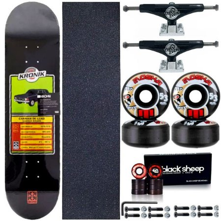 Skate Completo Profissional Maple 8.0 Kronik Caravan + Roda Moska 53mm + Truck This Way