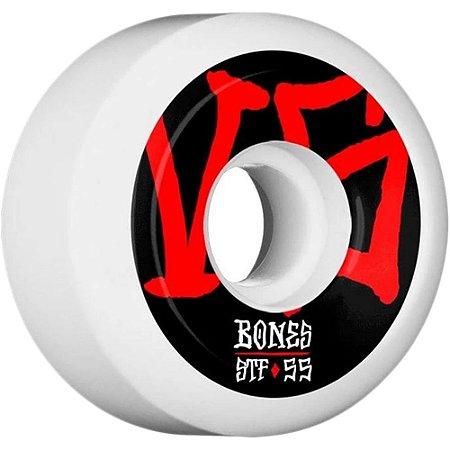 Roda Bones STF Annuals  SIDECUT 55MM 83B. ( jogo 4 rodas )
