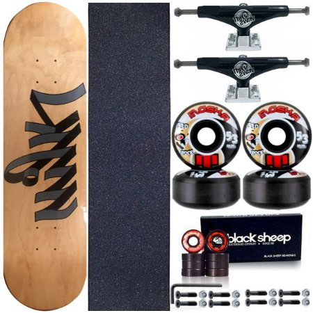 Skate Completo Profissional Maple 8.0 Milk Write+ Roda Moska 53mm + Truck This Way