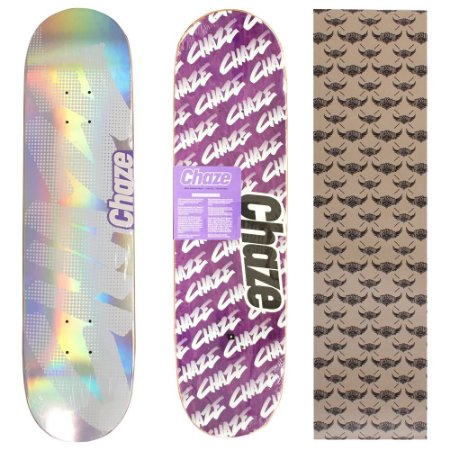 Shape Maple Chaze Skate Importado 8.0 Prata (Grátis Lixa Jessup Importada)