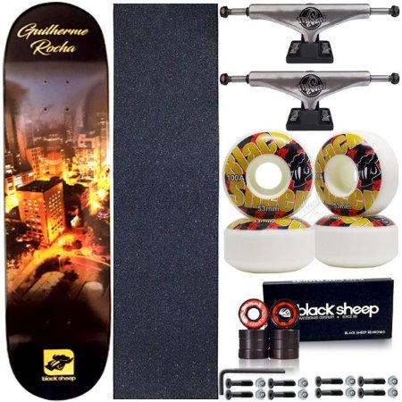 Skate Completo Maple BS City 8.0 + Truck ThisWay + Roda BS Importada 53mm