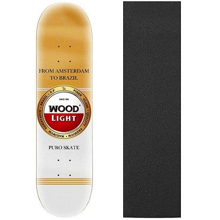 Shape de Skate Profissional Wood Light Stel 8.0 (Lixa de Brinde)