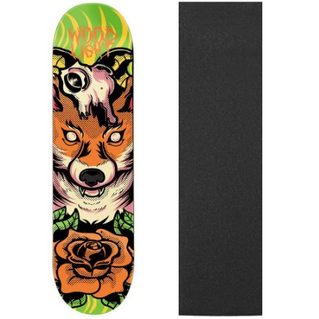 Shape de Skate Profissional Wood Light Fox 8.0 (Lixa de Brinde)