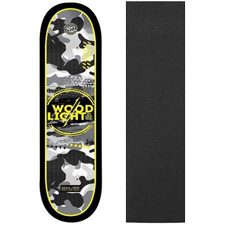 Shape de Skate Profissional Wood Light ArmyBlack 8.0 (Lixa de Brinde)