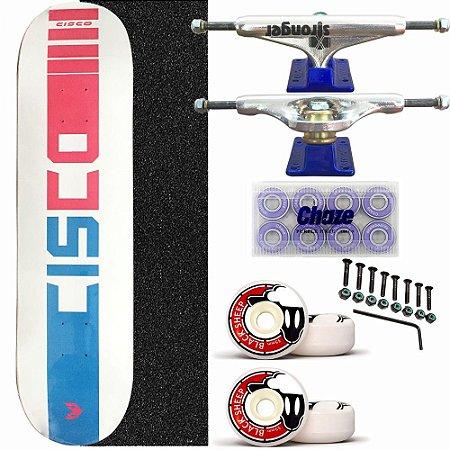 Skate Completo Profissional Cisco White 8.0 Truck Stronger