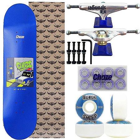 Skate Completo Profissional Chaze arte não é crime 8.0