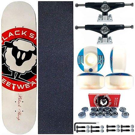 Skate Completo Shape Black Sheep White 8.0 + Truck Black This Way