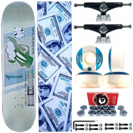 Skate Completo Profissional BS Maple Real 8.0 + Truck Black ThisWay 139mm