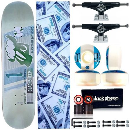 Skate Completo Profissional BS Maple Real 8.0 + Truck Black This Way 139mm