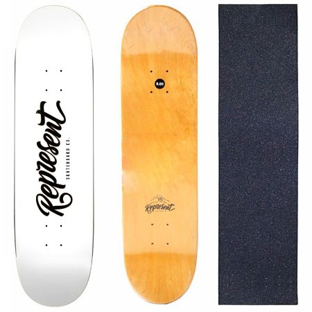 Shape Profissional Represent Skate White 8.0 (Grátis Lixa)