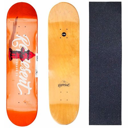 Shape Profissional Represent Skate Orange 8.0 (Grátis Lixa)