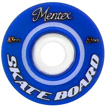 Roda para Skate Mentex 53mm Azul( jogo 4 rodas )