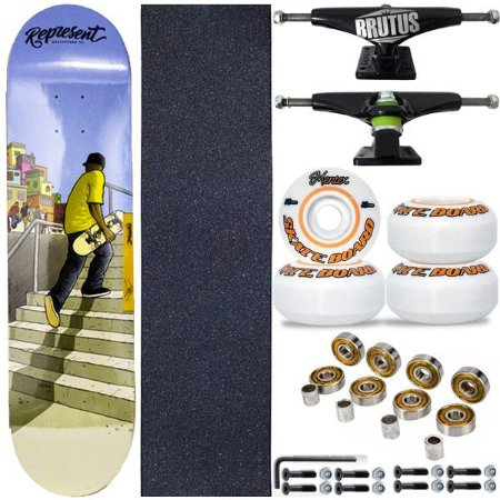 Skate Completo Shape Profissional Represent Skate Street 8.0