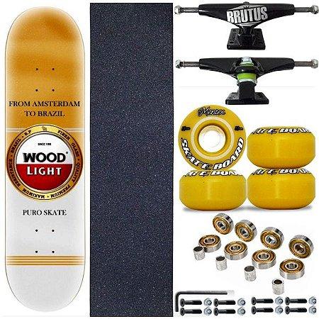 Skate Profissional Completo Shape Wood Ligth Amst 8.0