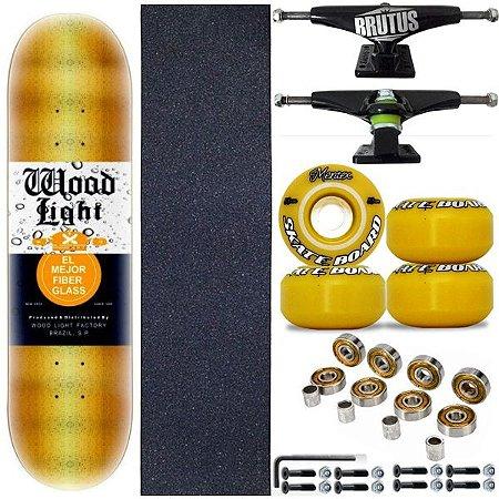 Skate Profissional Completo Shape Wood Light Gold 8.0